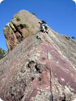 Andy Leach - Climbing in the Flatirons